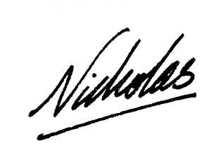 Nicholas' Signature